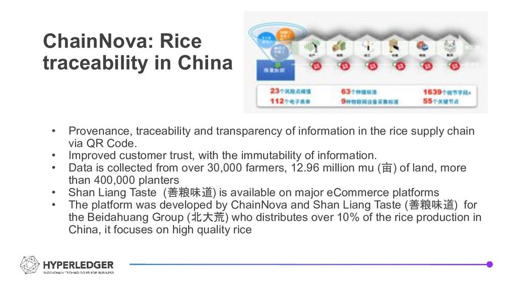 ChainNova: Rice traceability in China • Provena...