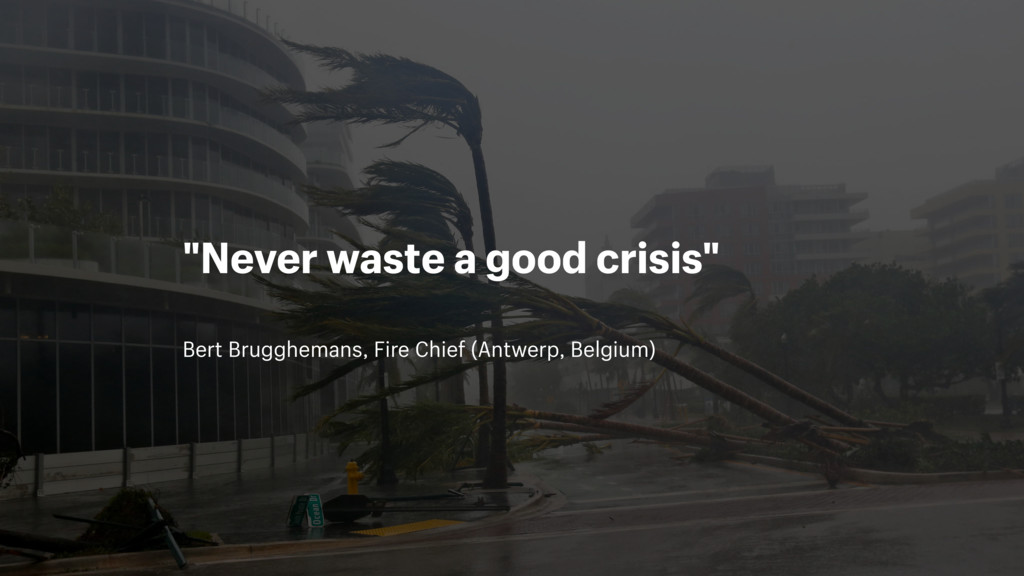Bert Brugghemans, Fire Chief (Antwerp, Belgium)...