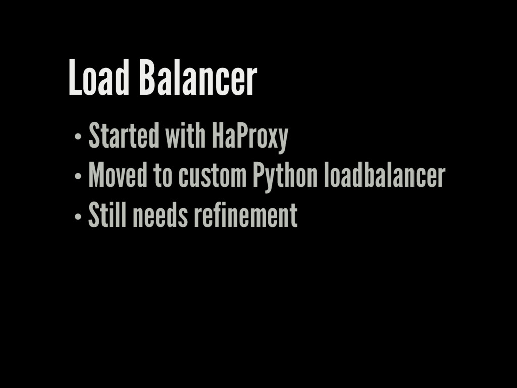 Load Balancer Started with HaProxy Moved to cus...