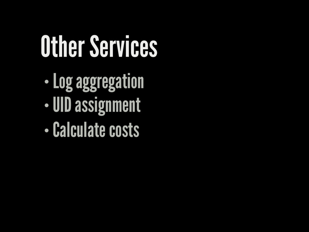 Other Services Log aggregation UID assignment C...