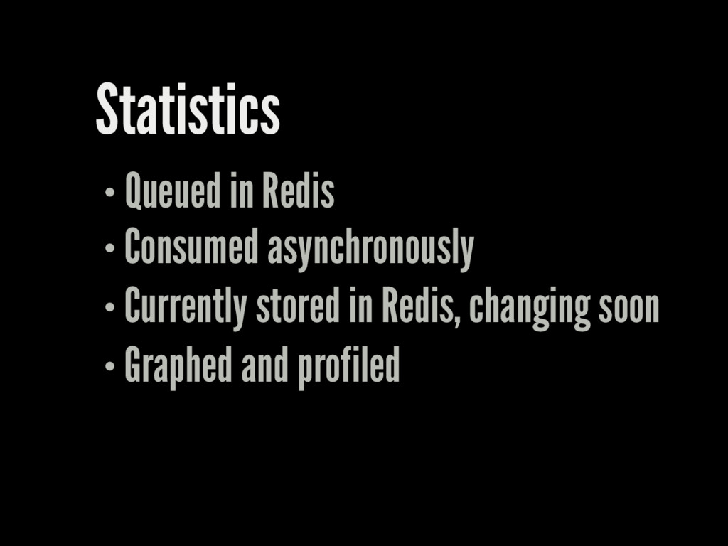Statistics Queued in Redis Consumed asynchronou...