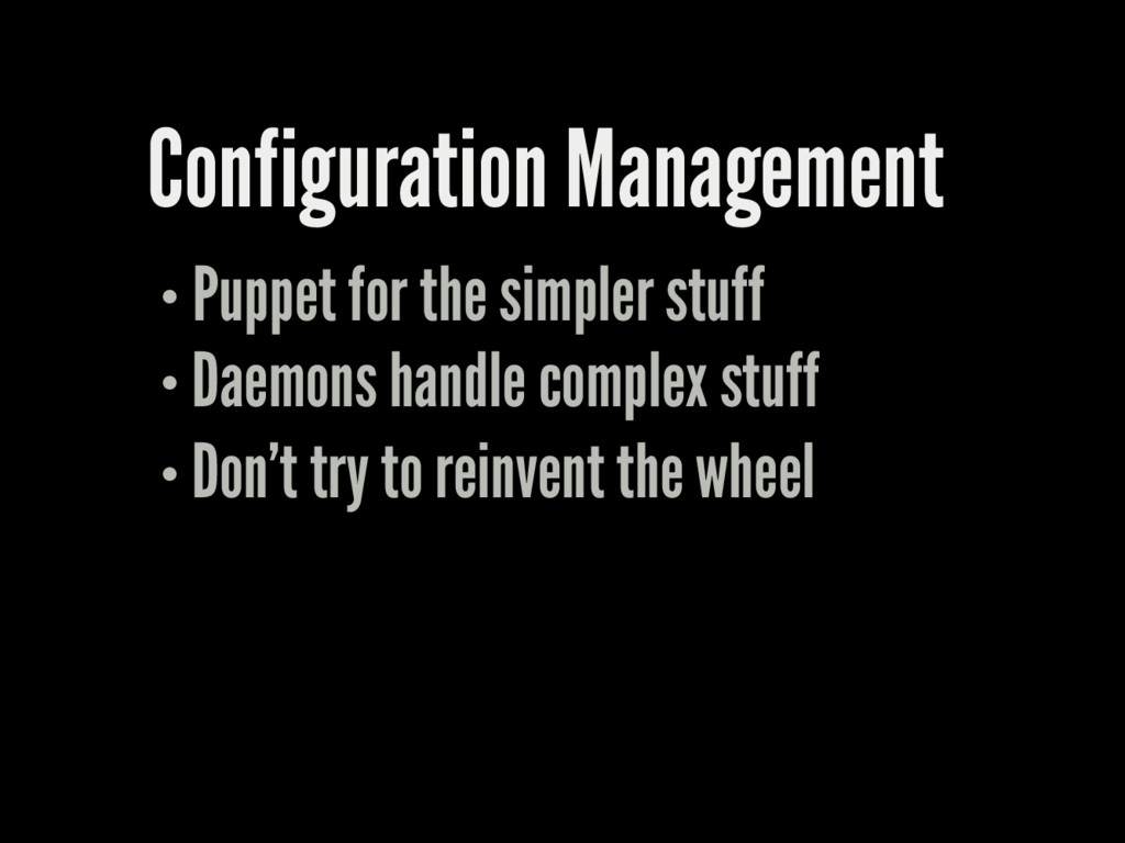 Configuration Management Puppet for the simpler...