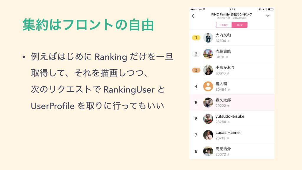 ूϑϩϯτͷࣗ༝ • ྫ͑͡Ίʹ Ranking ͚ͩΛҰ୴ औಘͯ͠ɺͦΕΛඳըͭ͠...