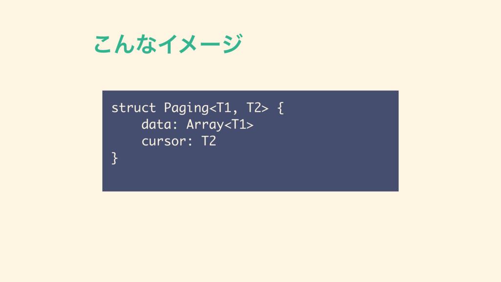 ͜ΜͳΠϝʔδ struct Paging<T1, T2> { data: Array<T1>...