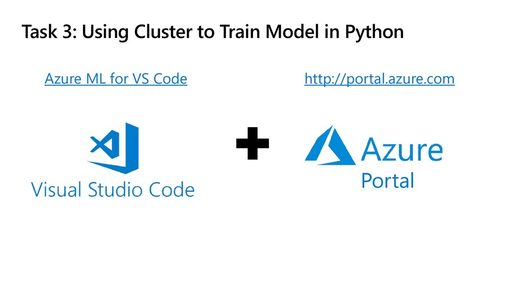 Task 3: Using Cluster to Train Model in Python ...