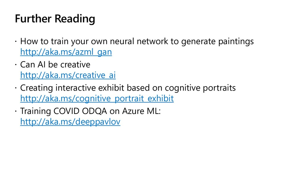 Further Reading  How to train your own neural ...