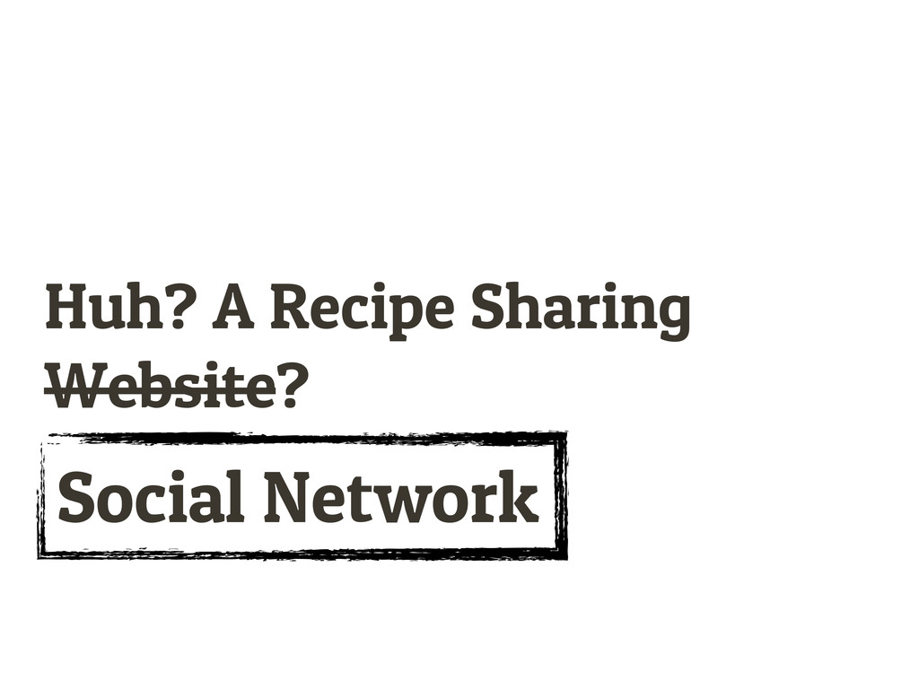Huh? A Recipe Sharing Website? Social Network