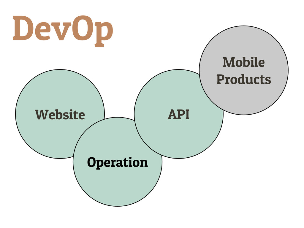 Website Operation API Mobile Products DevOp