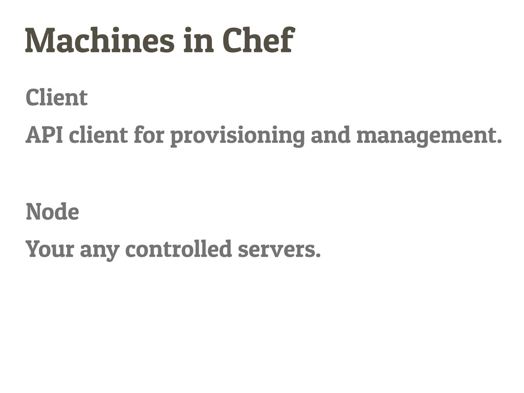 Machines in Chef Client Node API client for pro...