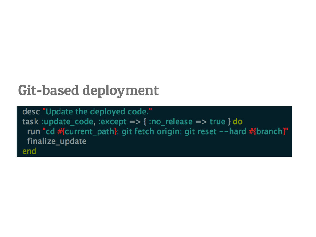 Git-based deployment