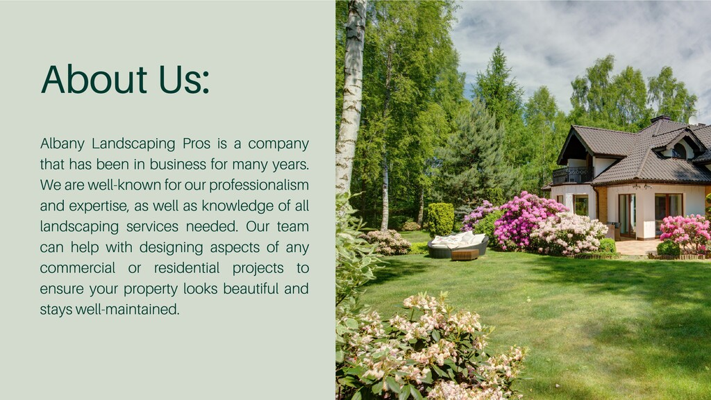 About Us: Albany Landscaping Pros is a company ...