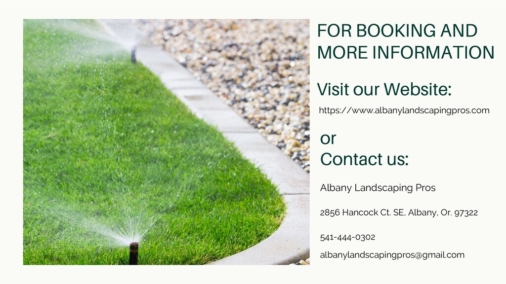 FOR BOOKING AND MORE INFORMATION Albany Landsca...