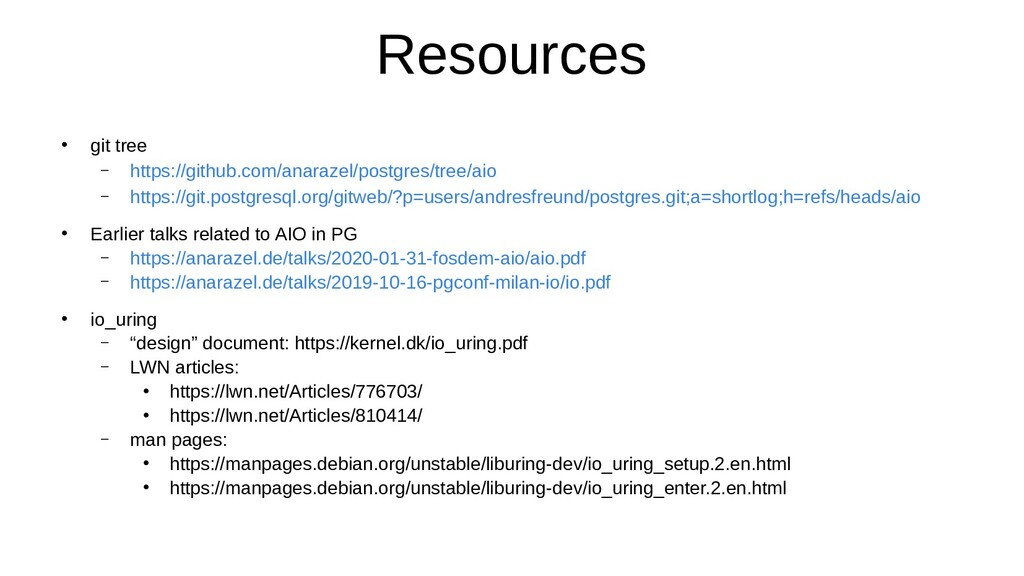 Resources ● git tree – https://github.com/anara...