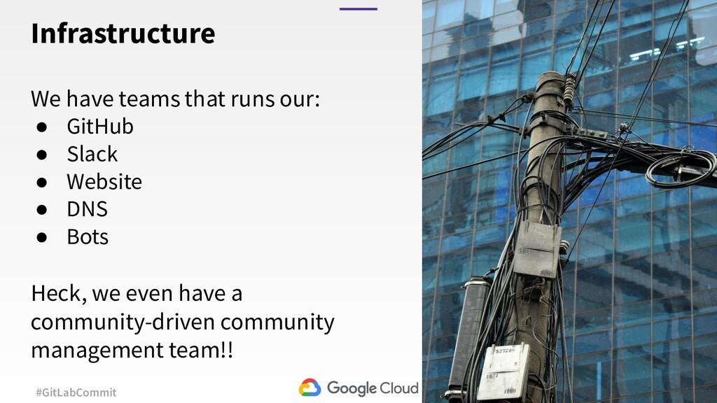 30 #GitLabCommit We have teams that runs our: ●...