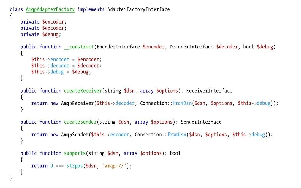 class AmqpAdapterFactory implements AdapterFact...