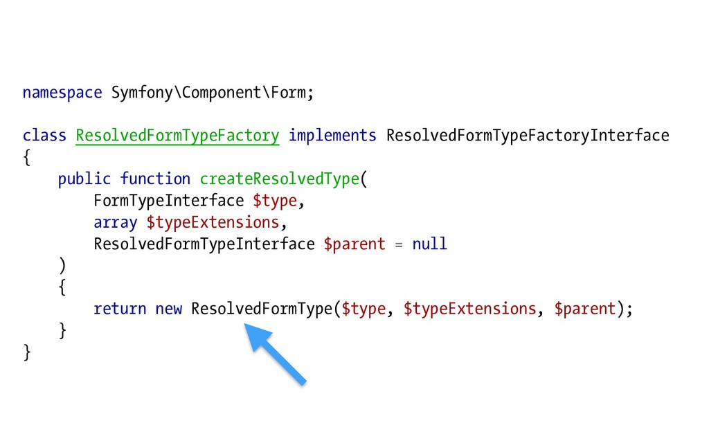 namespace Symfony\Component\Form; class Resolve...
