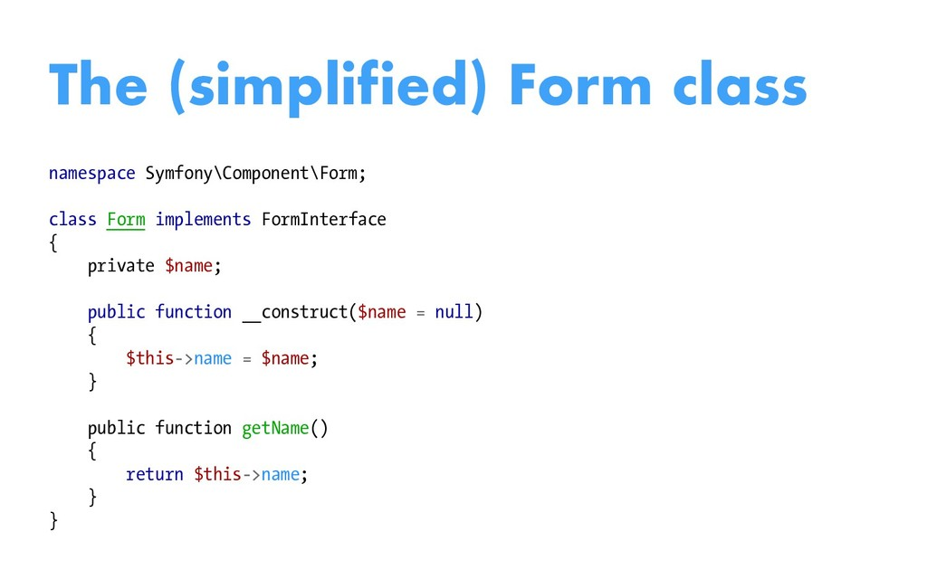 namespace Symfony\Component\Form; class Form im...