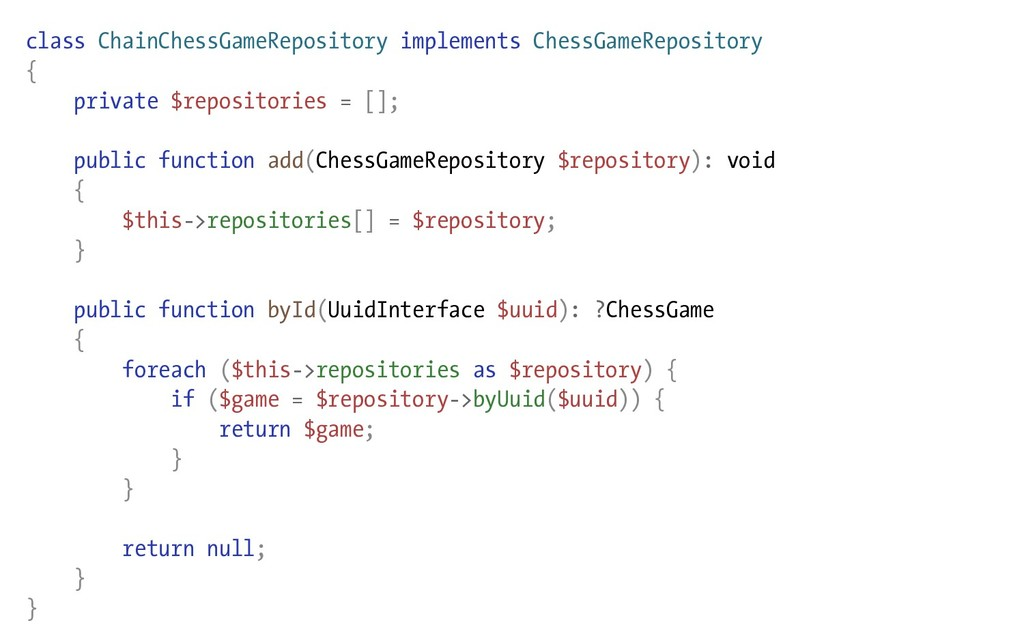 class ChainChessGameRepository implements Chess...