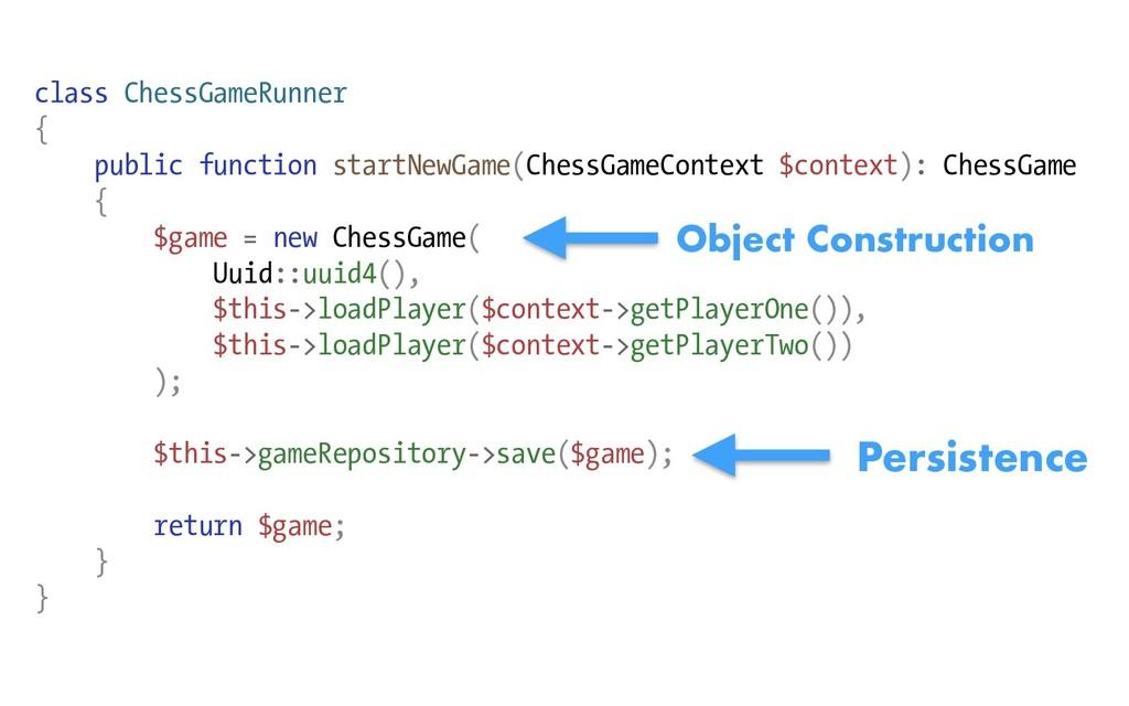 class ChessGameRunner { public function startNe...