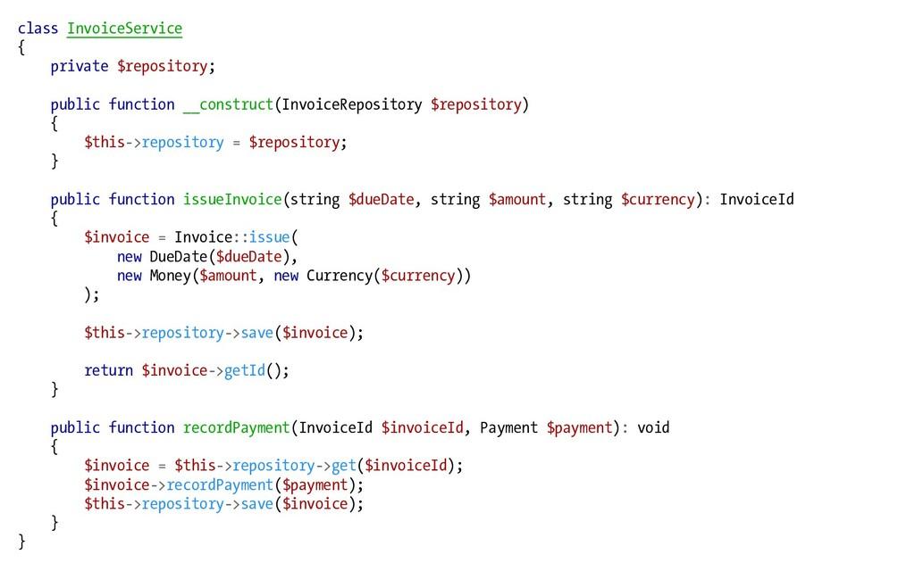 class InvoiceService { private $repository; pub...