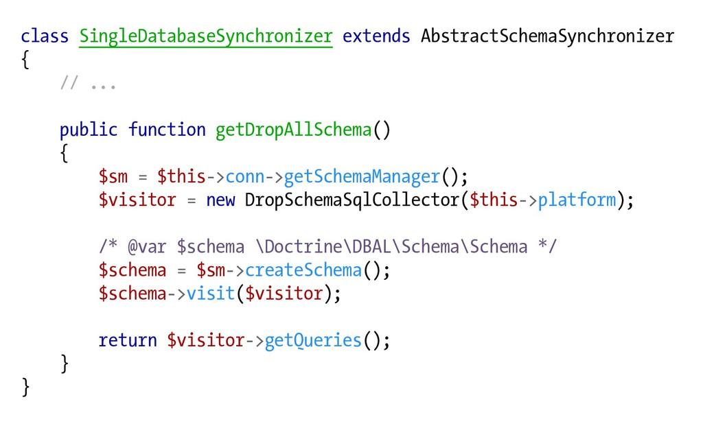 class SingleDatabaseSynchronizer extends Abstra...