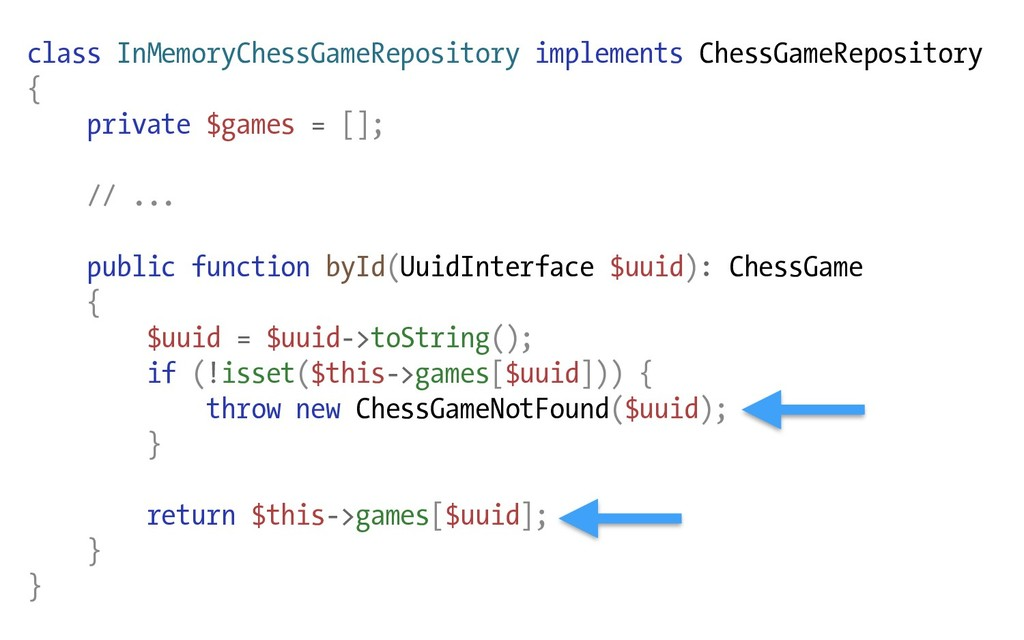 class InMemoryChessGameRepository implements Ch...