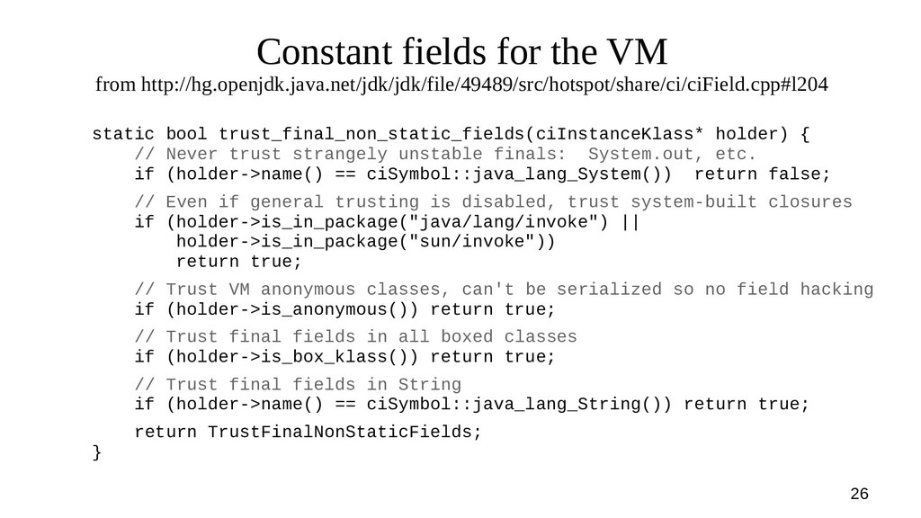 26 Constant fields for the VM from http://hg.op...