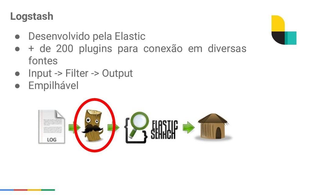 ● Desenvolvido pela Elastic ● + de 200 plugins ...
