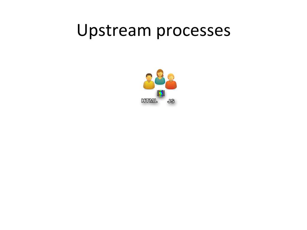 Upstream processes  VB JS HTML