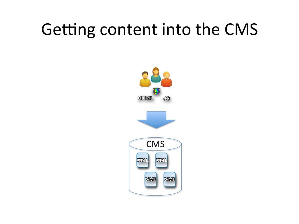 Ge_ng content into the CMS  VB J...