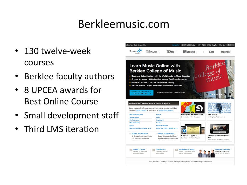 Berkleemusic.com  • 130 twelve-‐week ...