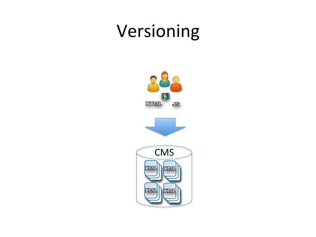 Versioning  VB JS HTML CMS  XML XML XML X...