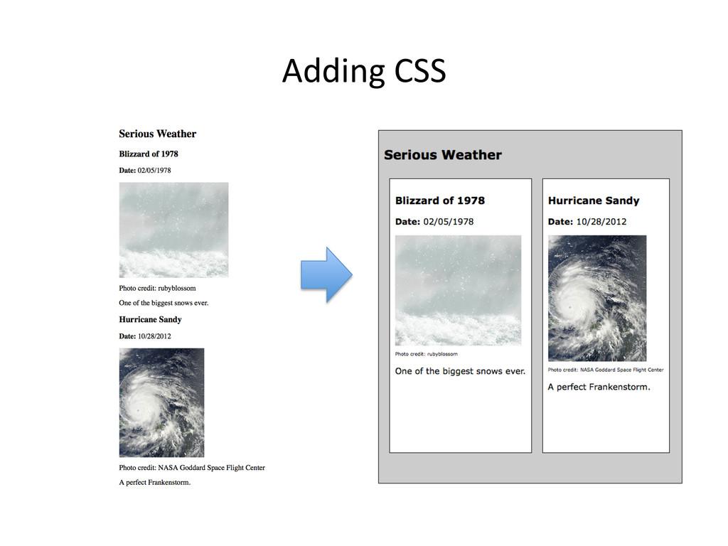 Adding CSS