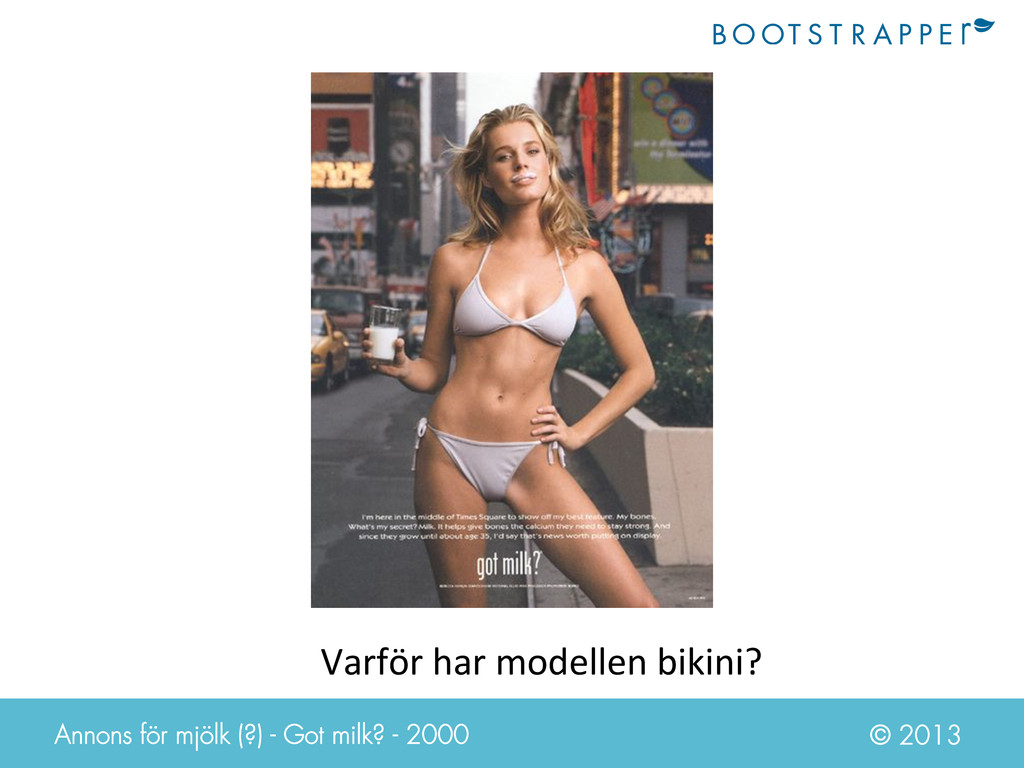 © 2013 Varför har modellen bikini? ...