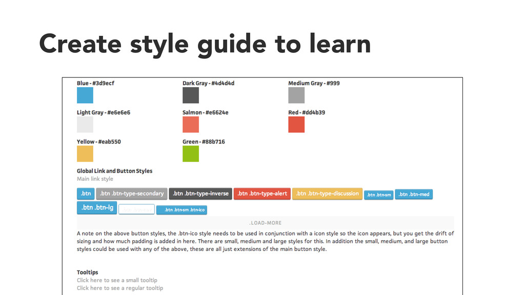 Create style guide to learn