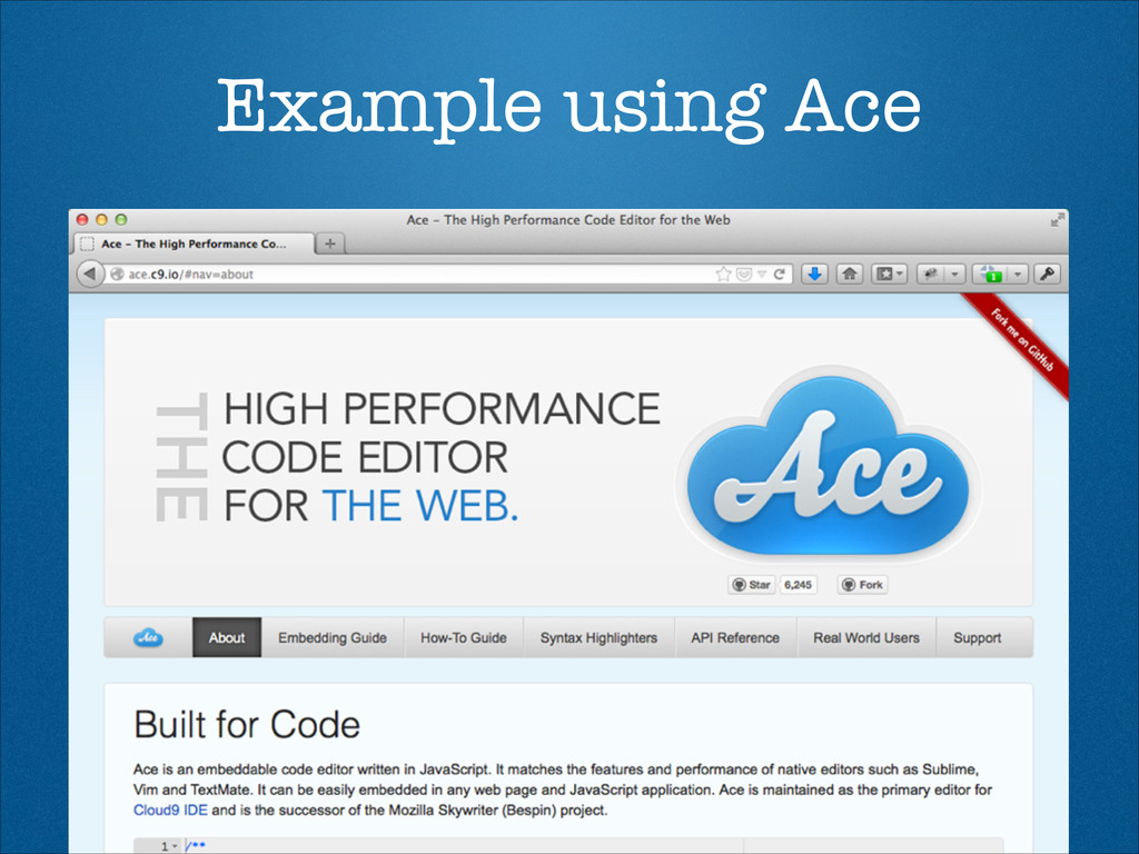 Example using Ace
