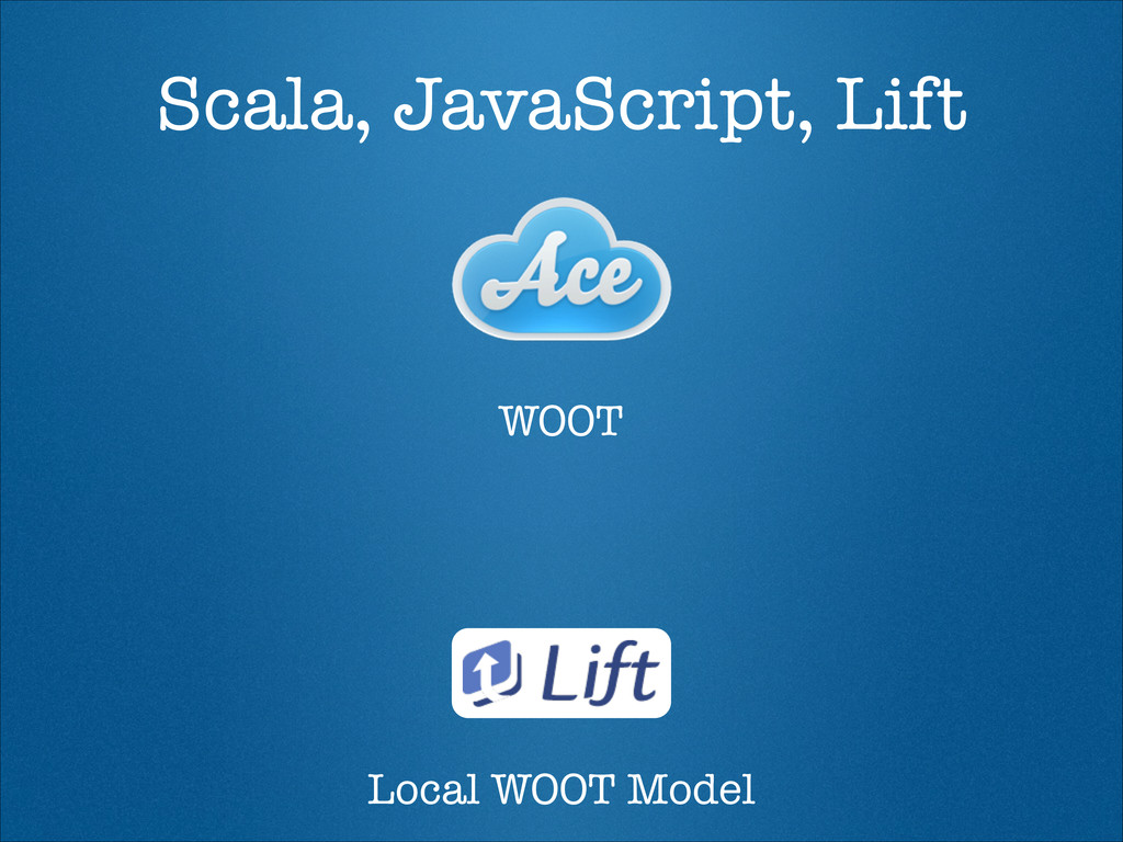 Scala, JavaScript, Lift WOOT Local WOOT Model