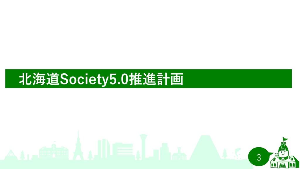 3 北海道Society5.0推進計画