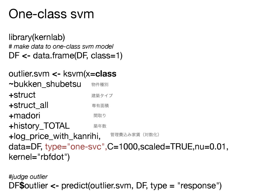 One-class svm  library(kernlab)  # make data to...
