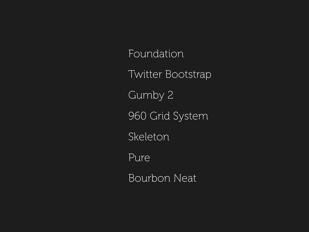 Foundation Twitter Bootstrap Gumby 2 960 Grid S...