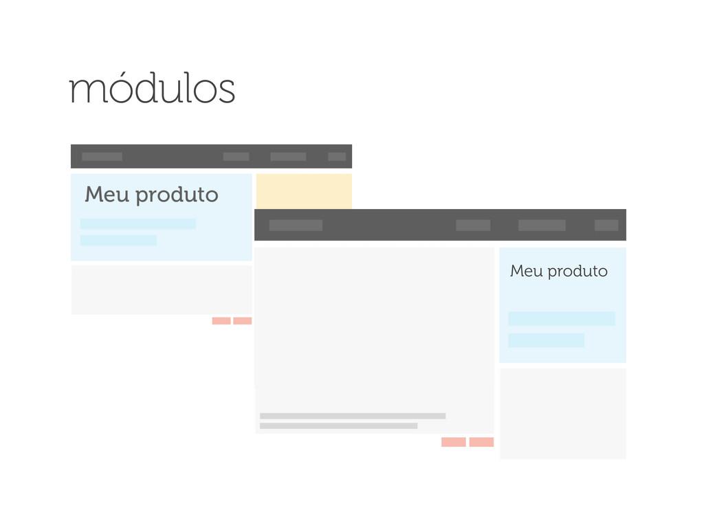Meu produto módulos