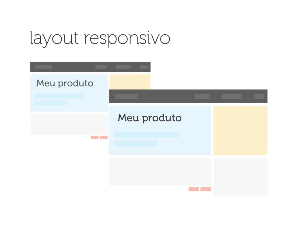 Meu produto layout responsivo