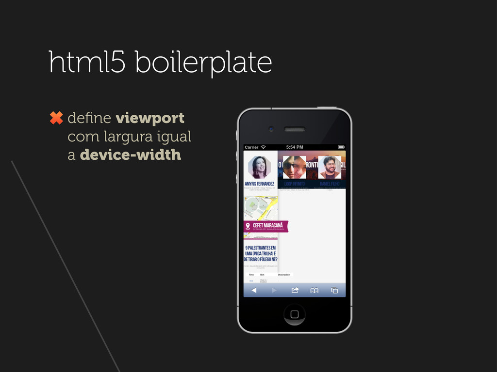html5 boilerplate define viewport com largura ig...