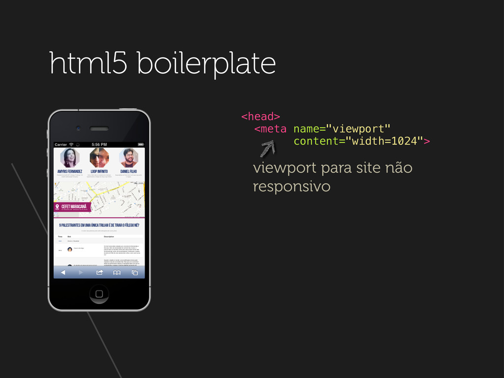 "html5 boilerplate <head> <meta name=""viewport"" ..."