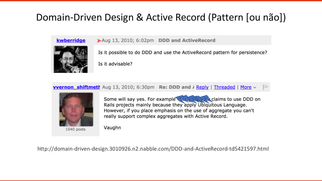 Domain-Driven Design & Active Record (Pattern [...