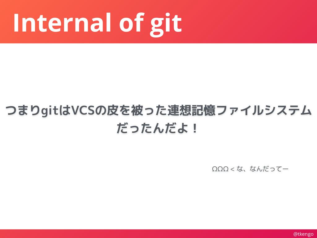 @tkengo Internal of git ΩΩΩ < な、なんだってー つまりgitはV...