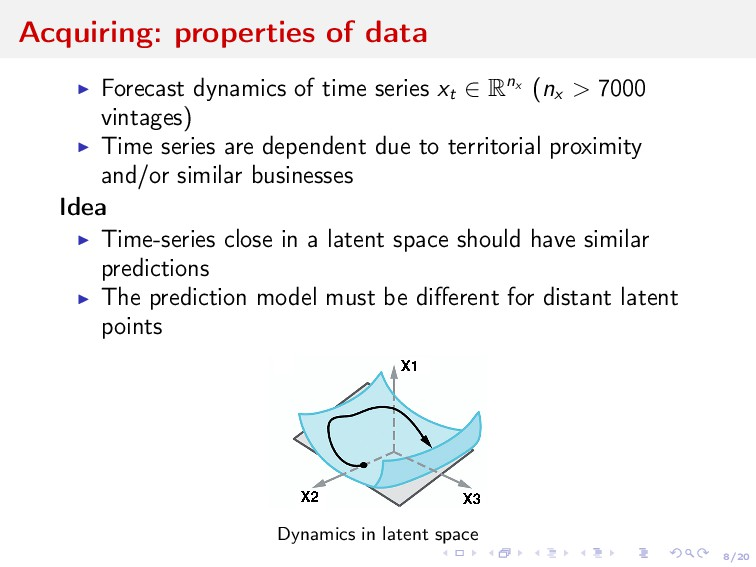 8/20 Acquiring: properties of data Forecast dyn...