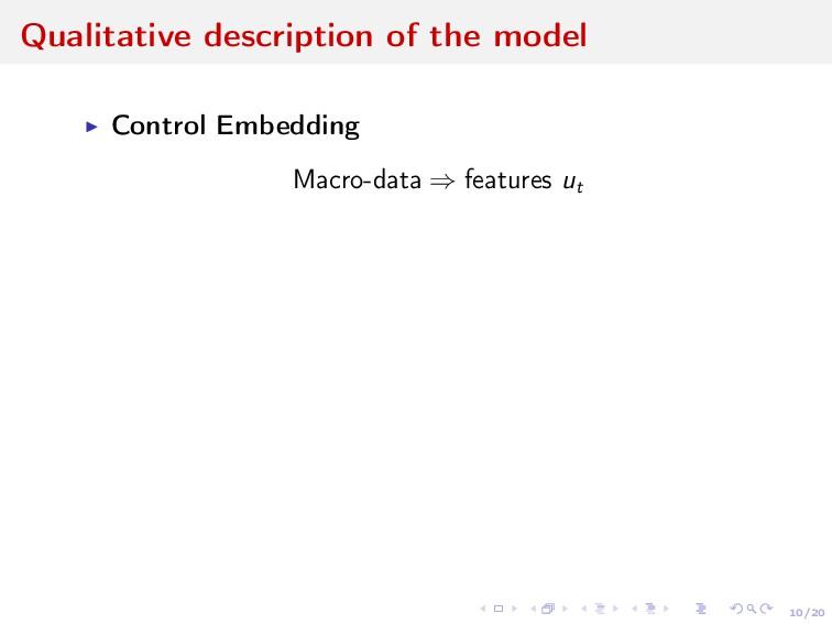 10/20 Qualitative description of the model Cont...