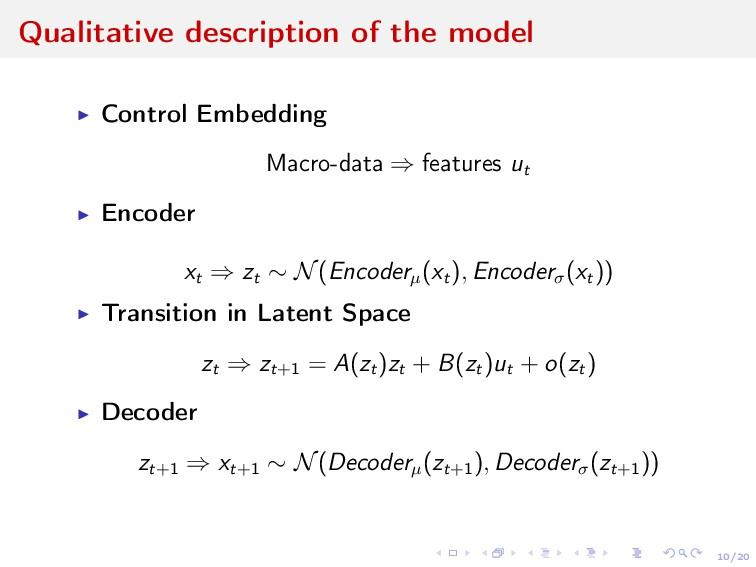 10/20 Qualitative description of the model Cont...
