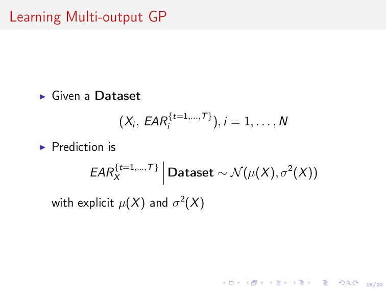 18/20 Learning Multi-output GP Given a Dataset ...